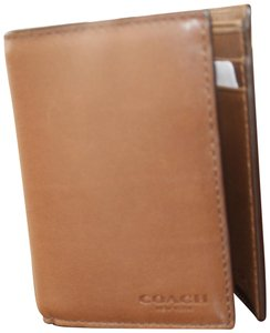 Coach Coach Bleecker Trifold Leather Fawn Brown Wallet