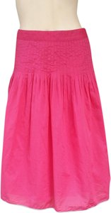 J.Crew Pintucks Pleated Skirt Pink