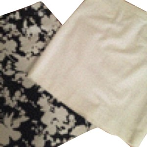 Halogen Skirt Black Floral and White