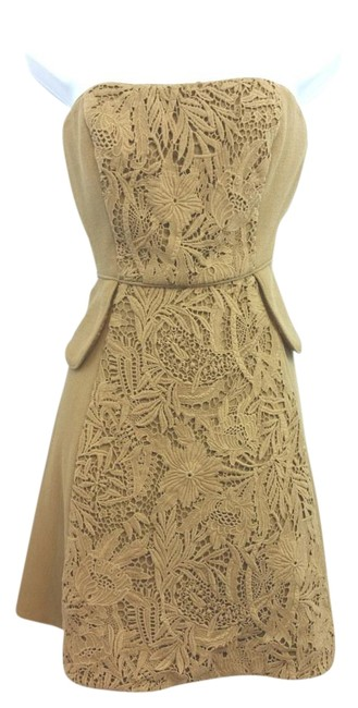 Preload https://img-static.tradesy.com/item/15630352/tibi-guipure-lace-trim-detail-brown-wool-blend-strapless-knee-length-night-out-dress-size-6-s-0-1-650-650.jpg
