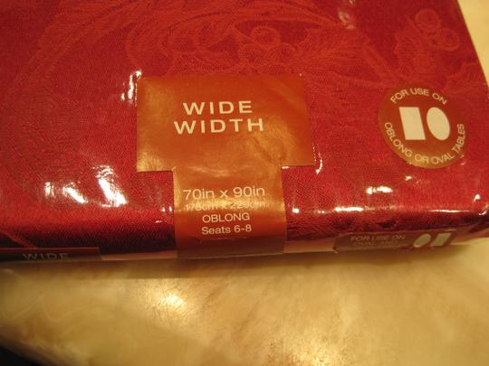 Other Red Damask Tablecloth (Rectangle [Oblong] 46