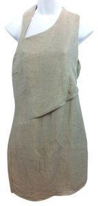 Helmut Lang short dress Taupe on Tradesy
