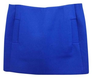 Maje Blue Wool Mini Mini Skirt