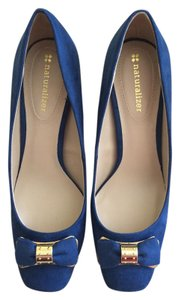 Naturalizer 3 Inch Bow Blue Pumps