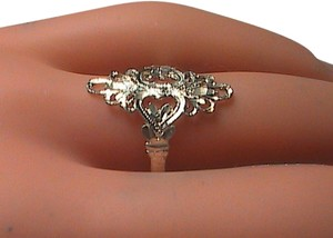 Sterling Silver Diamond-Cut Filigree Ring