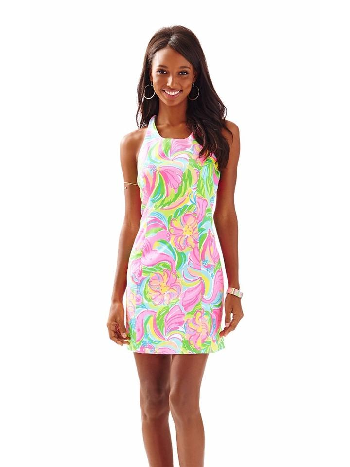 a43733d9dbf584 Lilly Pulitzer Multi So A Peeling 2016 Grayes Printed Racer Back Shift New  Above Knee Short Casual Dress Size 00 (XXS) - Tradesy