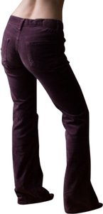 Adriano Goldschmeid Goldsign Velvet Velour Orchid Ag Denim Trousers Winter Fall Spring Boot Cut Jeans-Dark Rinse