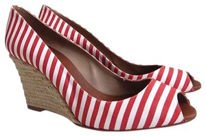 Christian Louboutin Pepi White/Red Wedges