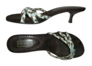 Arizona Jeans Company Turquoise/White Sandals