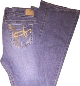 Hydraulic Flare Leg Jeans-Medium Wash
