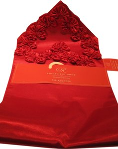 Red Satin Table Runner by Ridgefield Home - [ Roxanne Anjou Closet ]