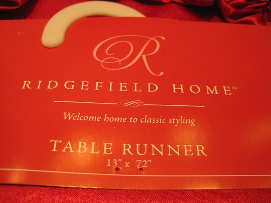 Other Red Satin Table Runner by Ridgefield Home - [ Roxanne Anjou Closet ]