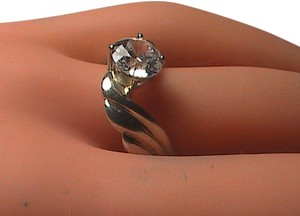 Vintage Sterling Silver CZ Ring