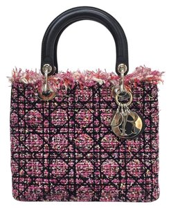 Dior Lady Tweed Satchel in multicolor