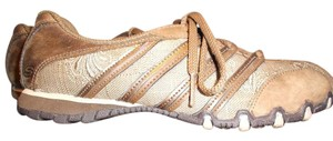 Skechers Distressed Leather Sporty Casual Brown/Tan Athletic