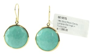 Ippolita IPPOLITA 18K YELLOW GOLD TURQUOISE ROCK CANDY LOLLIPOP EARRINGS