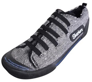 Skechers Canvas Casual Sporty Black/White Athletic
