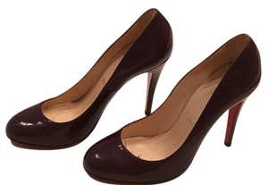 Christian Louboutin Dark purple patent leather Pumps