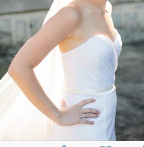 Romona Keveza Sweetheart Aline Wedding Dress
