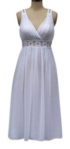 Other Embellished Beaded Chiffon Pleated Dress