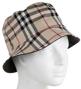Burberry Beige, black multicolor Nova Check plaid print Burberry bucket hat