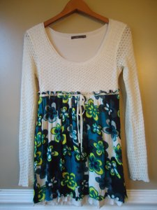 Anthropologie short dress Floral Sweater Knit on Tradesy