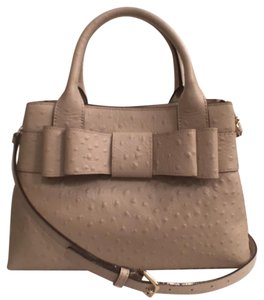 Kate Spade Leather Cross Body New (nwt) Ostrich Satchel in Beige