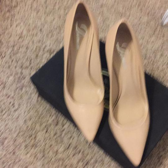 Delman nude pumps With Slight Blemish On Patent Nude Pumps Image 1
