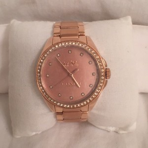 Coach NEW! Rose Gold W/Crystal Coach