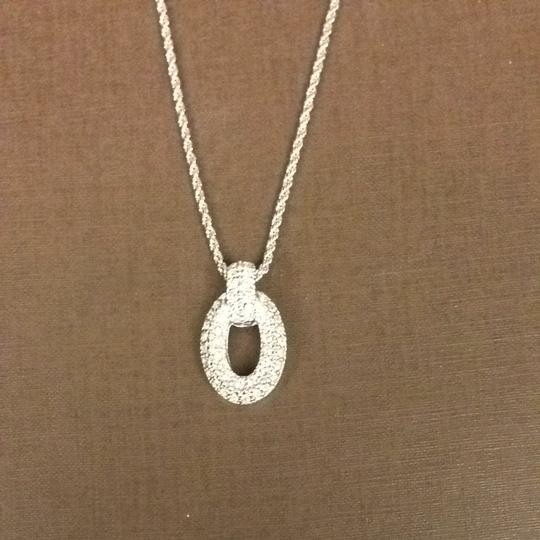 "Dior Christian Dior Jeweled ""O"" Necklace With CD Charm"