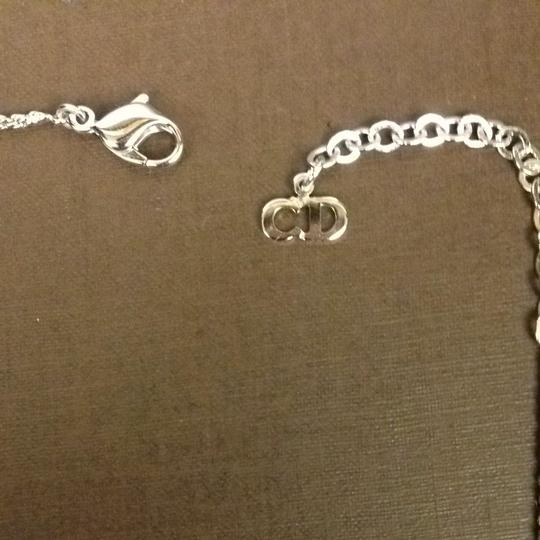 """Dior Christian Dior Jeweled """"O"""" Necklace With CD Charm"""