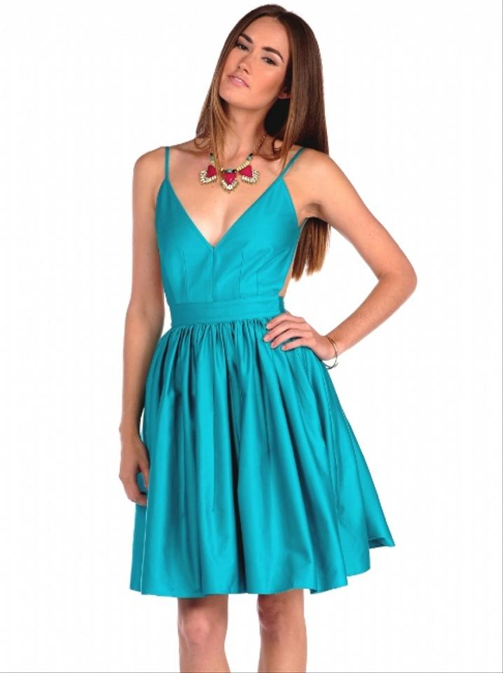 One By Contrarian Backless Deep V Neckline Dress