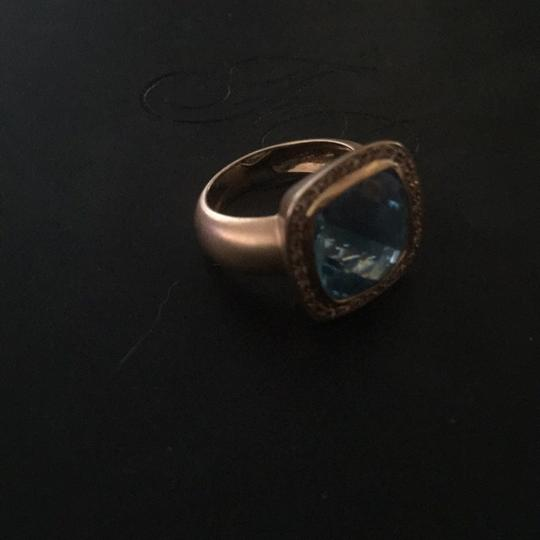 Contemporary Matte Rose Gold Ring Image 1