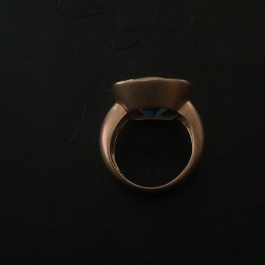 Contemporary Matte Rose Gold Ring Image 2