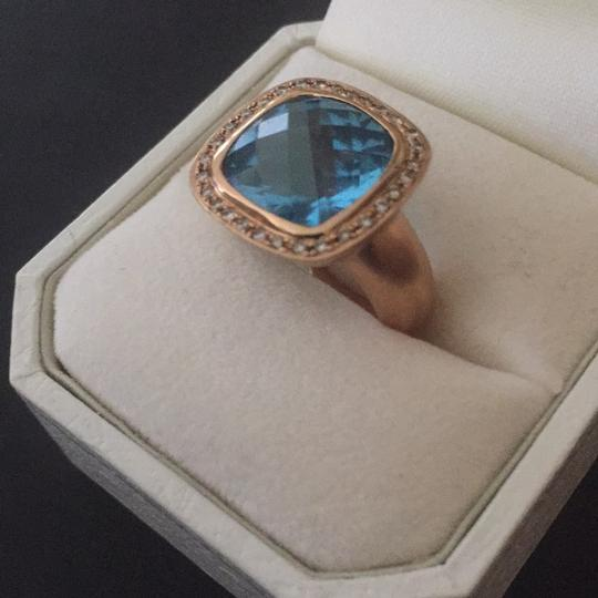 Contemporary Matte Rose Gold Ring Image 3