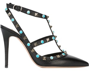 Valentino Leather Studded Black 38.5(EU) NWT Pumps