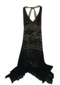 Rampage Halter Lace Drape Dress