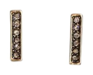 Other Pave Stone Bar Stud Earrings