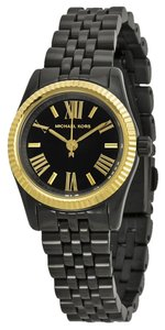 Michael Kors Michael Kors Black Dial Black Ion-plated Ladies Watch