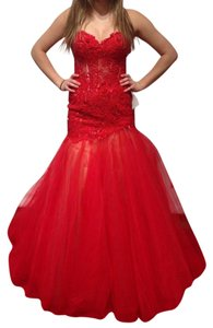 Sherri Hill Prom Mermaid Applique Tulle Corset Dress