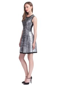 Shoshanna Knit Metallic Formal Short Dress
