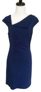 David Meister short dress Blue Knit on Tradesy