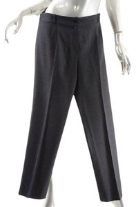Chanel Double Pleat Straight Pants Grey