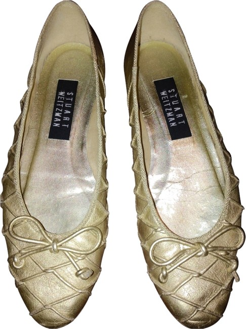 Item - Gold Ballet Flats Size US 6.5 Regular (M, B)
