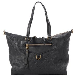 Louis Vuitton Navy Lv.k0411.06 Pm Embossed Leather Tote
