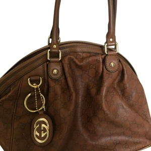 Gucci Satchel in Med dark Brown