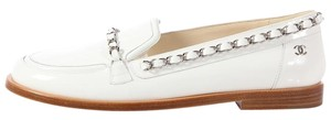 Chanel Ch.k0324.13 Patent Leather Moccasins Chain Link Flats