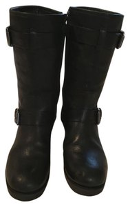 Tory Burch Boot Leather Black Boots