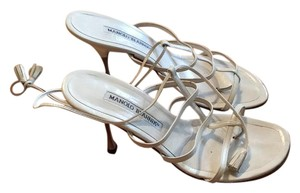 Manolo Blahnik White Sandals