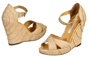 Brian Atwood Tan Wedges